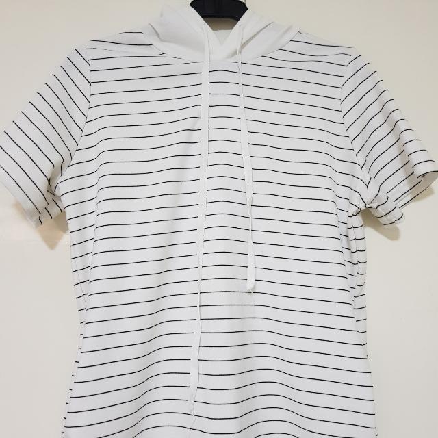 White Stripes Jacket Hoodie
