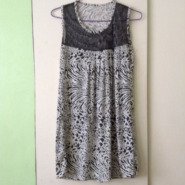 zebra long top or dress