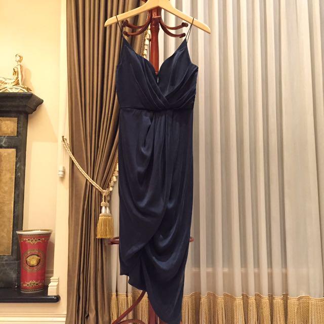Zimmerman Silk Plunge Draped Dress Sz 0 (6)