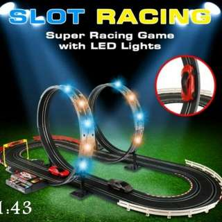 Children Track Racing Car With LED Lights