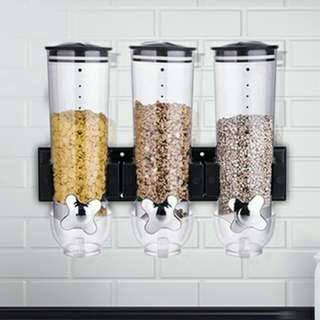 Wall Mounted Triple Dry Food Dispenser