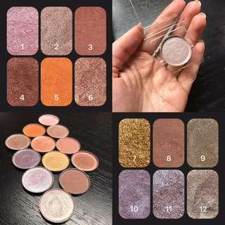 Handmade Pressed Eyeshadows - Vegan, Cruelty-free, Matte, Duochrome, Metallic, Shimmer