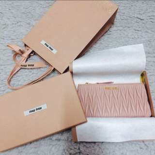 miumiu Baby Pink Coins Bag