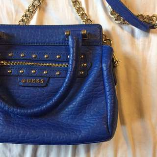 Guess Blue Genuine Leather Bag