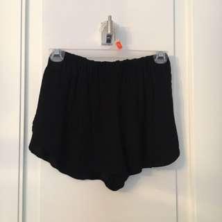 Wilfred Free Black Silk Shorts