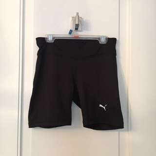 Black Puma Biker Tight Running Shorts REDUCED