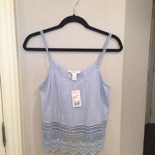 Brand New Forever 21 Baby Blue Top