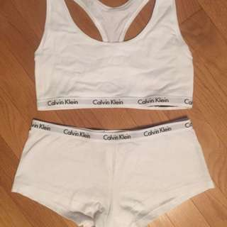 Calvin Klein Bra With Matching Boyshort Underwear