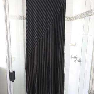 Black And Grey Stripe Maxi Skirt 8