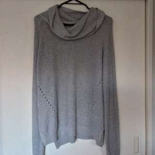 Grey Slouch Neck