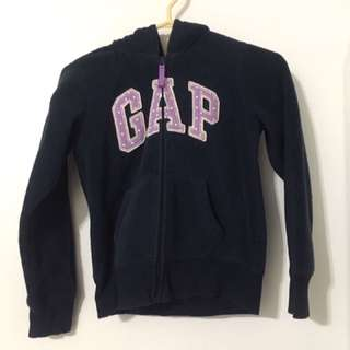 Navy Blue And Purple GAP Zip-Up