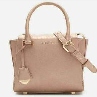 Charles & Keith Large Structured Handbag Slingbag