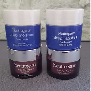 BRAND NEW UNUSED Neutrogena - Triple Age & Deep Moisture Day/Night cream - $10 each