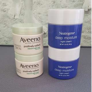 BRAND NEW UNUSED - Aveeno & Neutrogena  Night cream