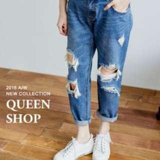 Queen Shop 男友褲