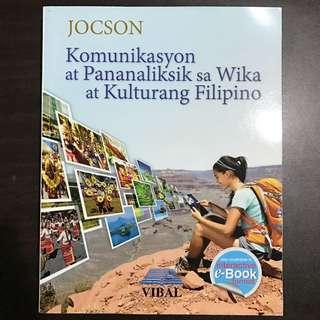 GRADE 11 BOOKS: Komunikasyon At Pananaliksik Sa Wika At Kulturang Filipino