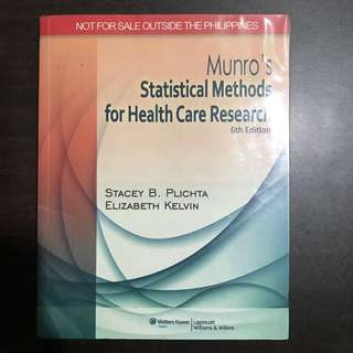 Munro's For Statistical Methods For Health Care Research