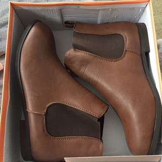 Boohoo Tan Ankle Boots
