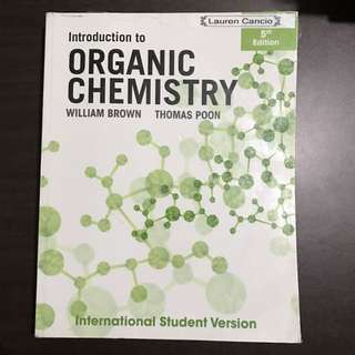 Introduction To Organic Chemistry By Brown & Poon