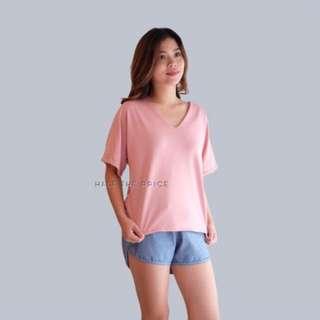 Htp V-neck pink Top