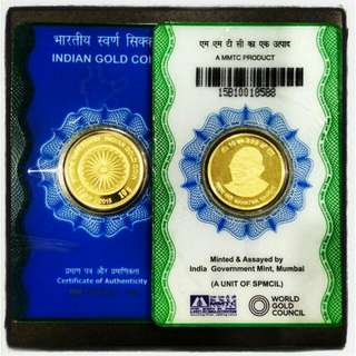 🚚 2016 INDIA GOLD COIN 10GM 999 - huge discount