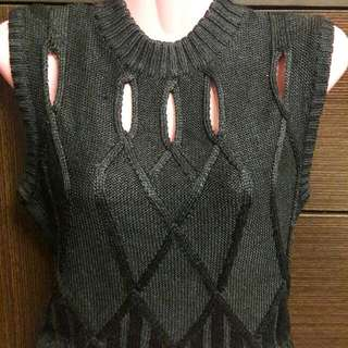 AUTH. GIANNI VERSACE KNITTED TOP
