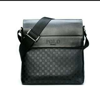 Black Polo Satchel