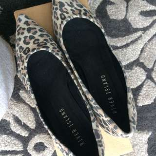 River Island Leopard Print Suede Shoes