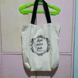 Love Never Fails Eco Bag