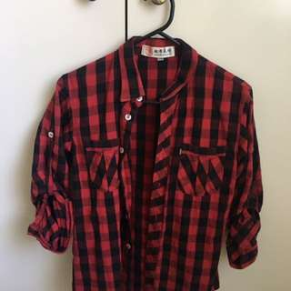 Red And Black Checkered Jacket/shirt