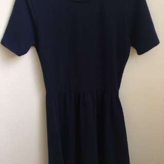Cotton On Navy Blue Dress Short Sleeves