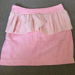 Light Pink Pencil Skirt Trendy