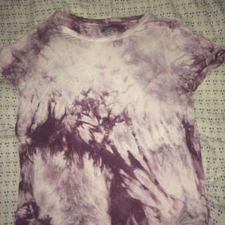 Tie Die Purple T Shirt