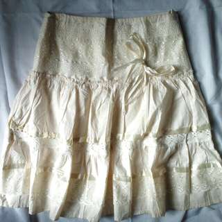 Mini Skirt Broken White