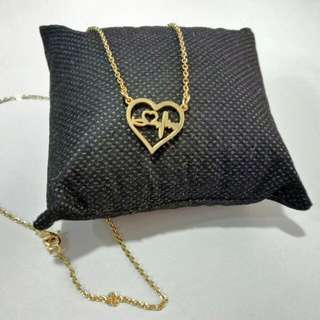 HEART WITH HEARTBEAT NECKLACE STAINLESS STEEL