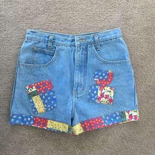 Vintage Shorts Patchwork