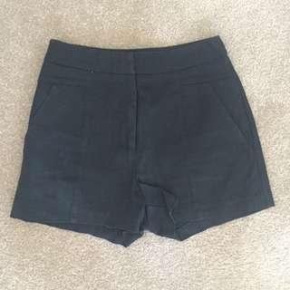 Bardot Black High waisted Shorts