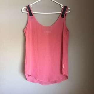 Bettina Liano Sheer Pink Singlet Top