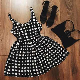 Forever 21 Cute Plaid Summer Dress