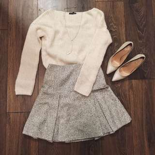 Club Monaco White Fluffy Sweater