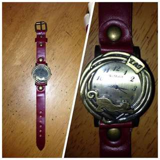 Womage Leather Watch
