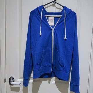 Blue Zip Hoodie