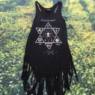 KILLSTAR FRINGE DRESS