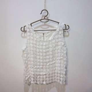 White Lace Crop