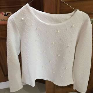 atasan putih blouse