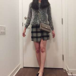 Fuzzy Grey High Fashion Sweater