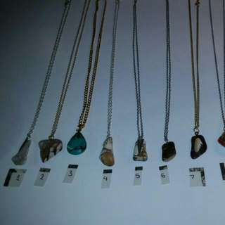 Boho stone necklaces