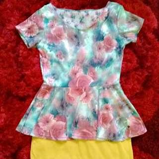 Dress Peplum Strech