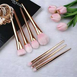 Professional Pink Brush Set 7 Pcs