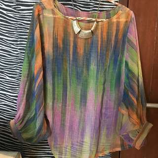 Preloved Rainbow Blouse